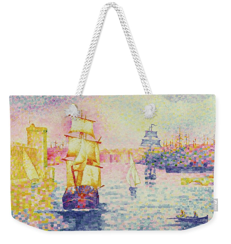The Port Of Marseilles Weekender Tote Bag featuring the painting The Port Of Marseilles by Henri-Edmond Cross