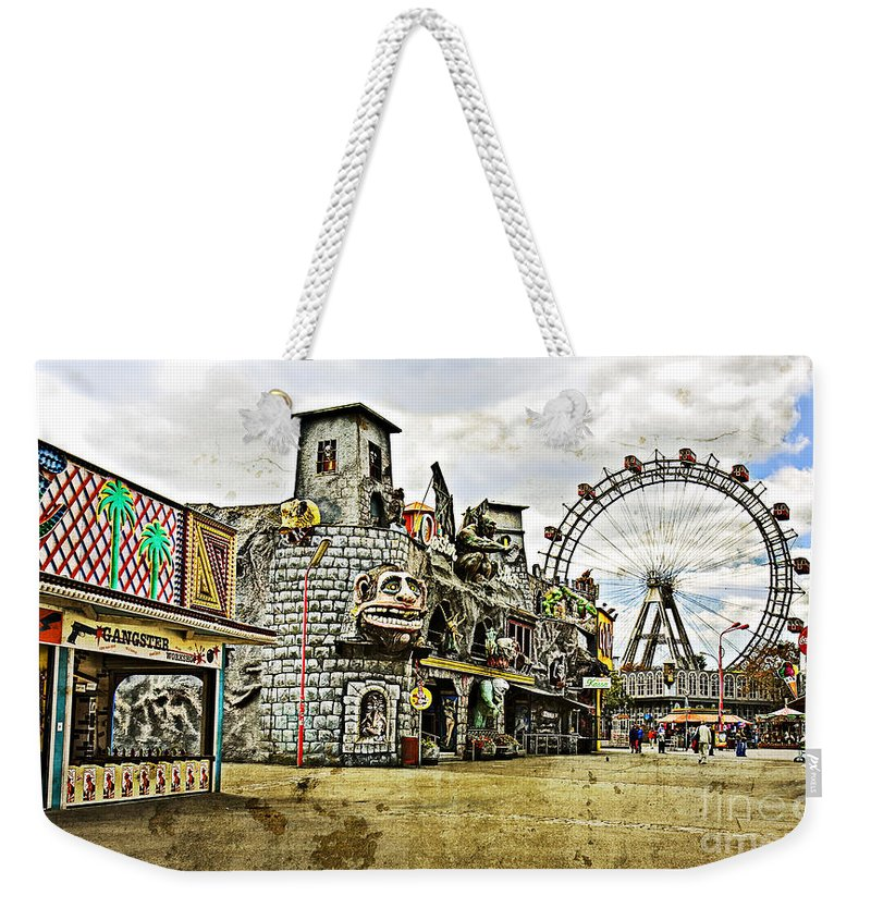 Ferris Wheel Weekender Tote Bag featuring the photograph The Prater - Vienna by Madeline Ellis