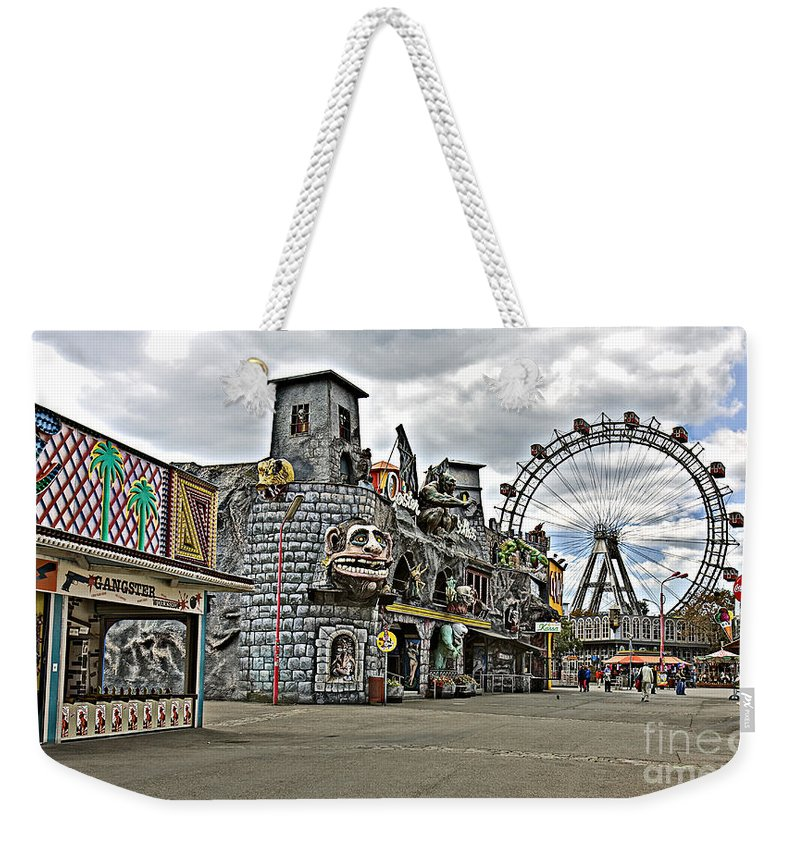 Ferris Wheel Weekender Tote Bag featuring the photograph The Prater In Vienna by Madeline Ellis