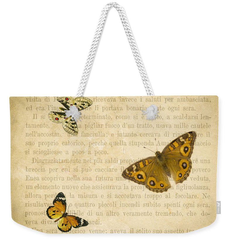 Butterfly Weekender Tote Bags