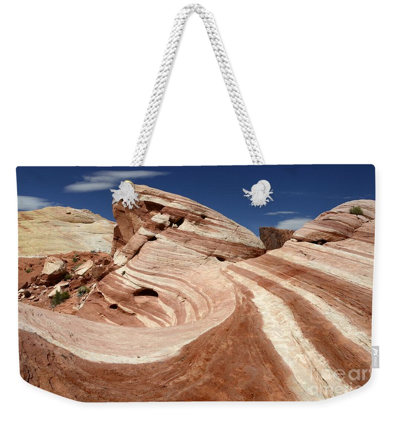 Valley Of Fire Weekender Tote Bag featuring the photograph The Purple Wave by Bob Christopher
