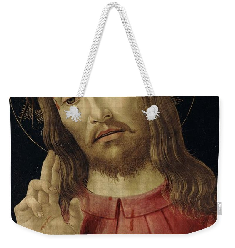The Weekender Tote Bag featuring the painting The Resurrected Christ by Sandro Botticelli