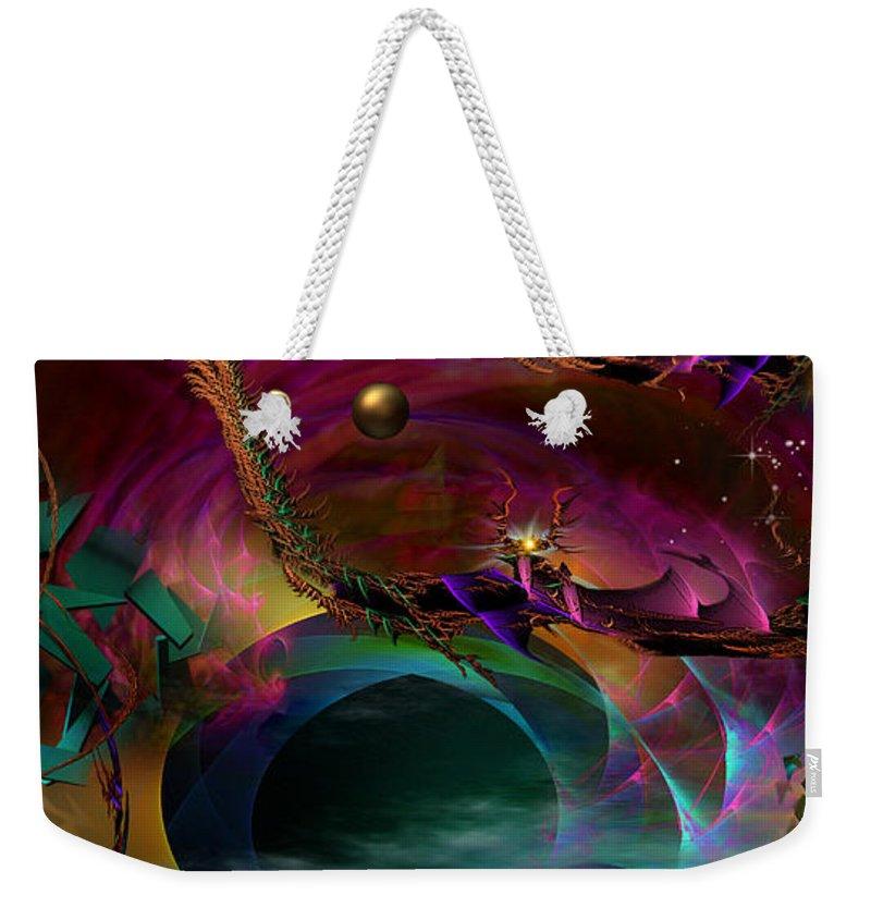 Phil Sadler Weekender Tote Bag featuring the digital art The Return ....of Draconem... by Phil Sadler