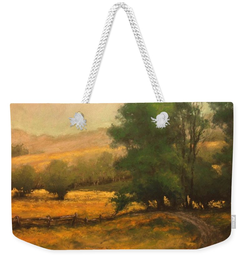 Painting Weekender Tote Bag featuring the painting The Road Less Traveled by Jim Gola