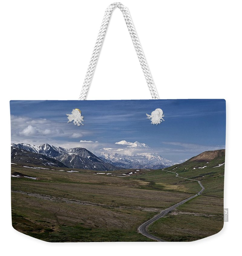 The Road To The Great One Weekender Tote Bag featuring the photograph The Road To The Great One by Wes and Dotty Weber