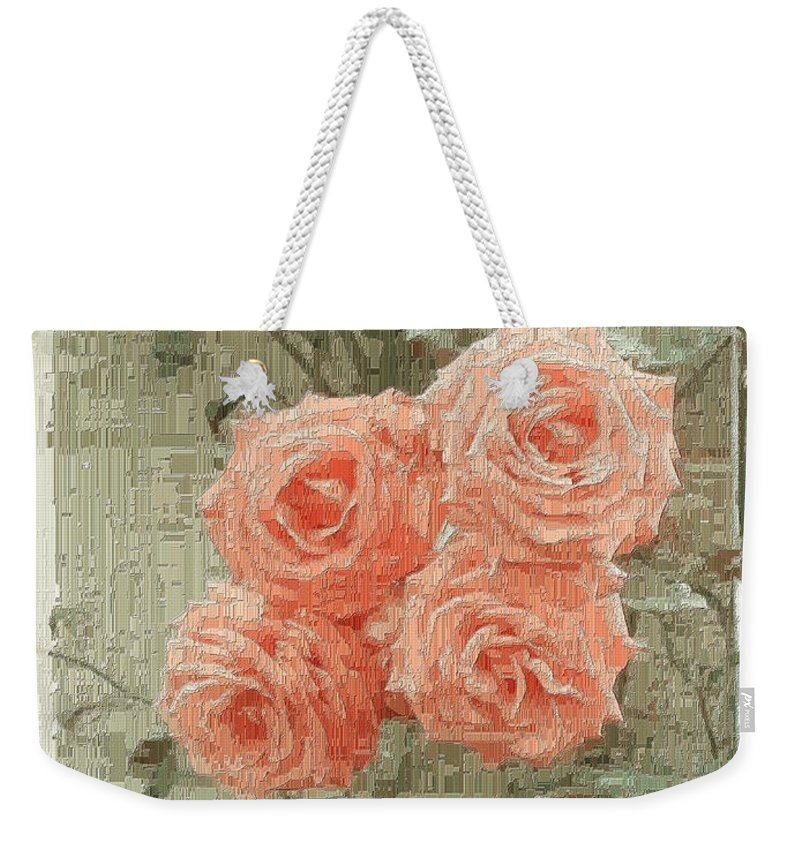 Rose Weekender Tote Bag featuring the digital art The Rose 2 by Tim Allen