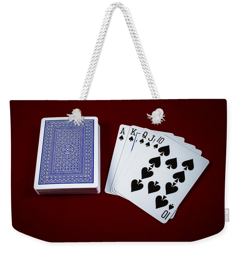 Poker Weekender Tote Bag featuring the photograph The Royal Flash by Doug Long