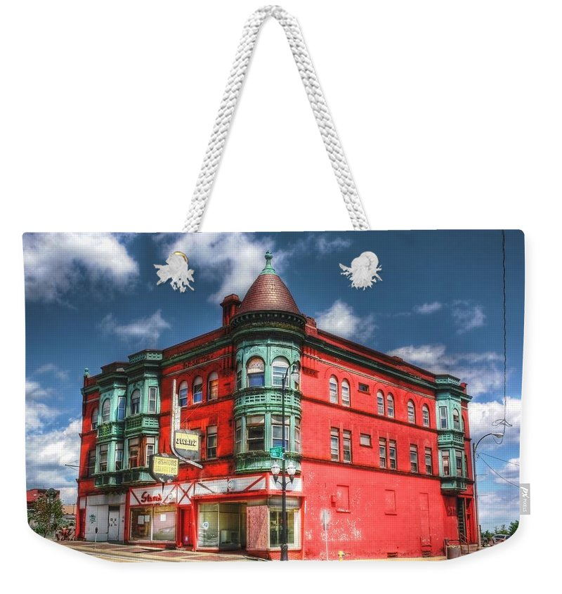 Building Weekender Tote Bag featuring the photograph The Sauter Building by Dan Stone