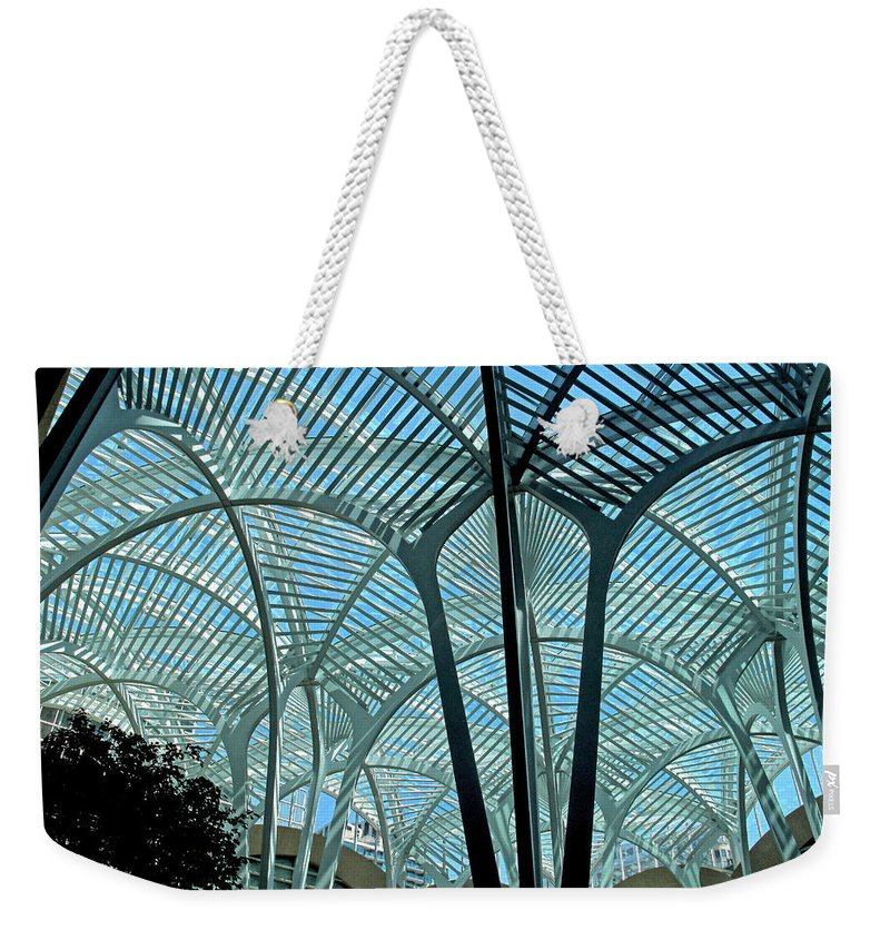 Architecture Weekender Tote Bag featuring the photograph The Spiders Web by Ian MacDonald