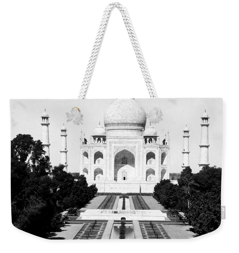 taj Mahal Weekender Tote Bag featuring the photograph The Taj Mahal In Agra India - C 1906 by International Images