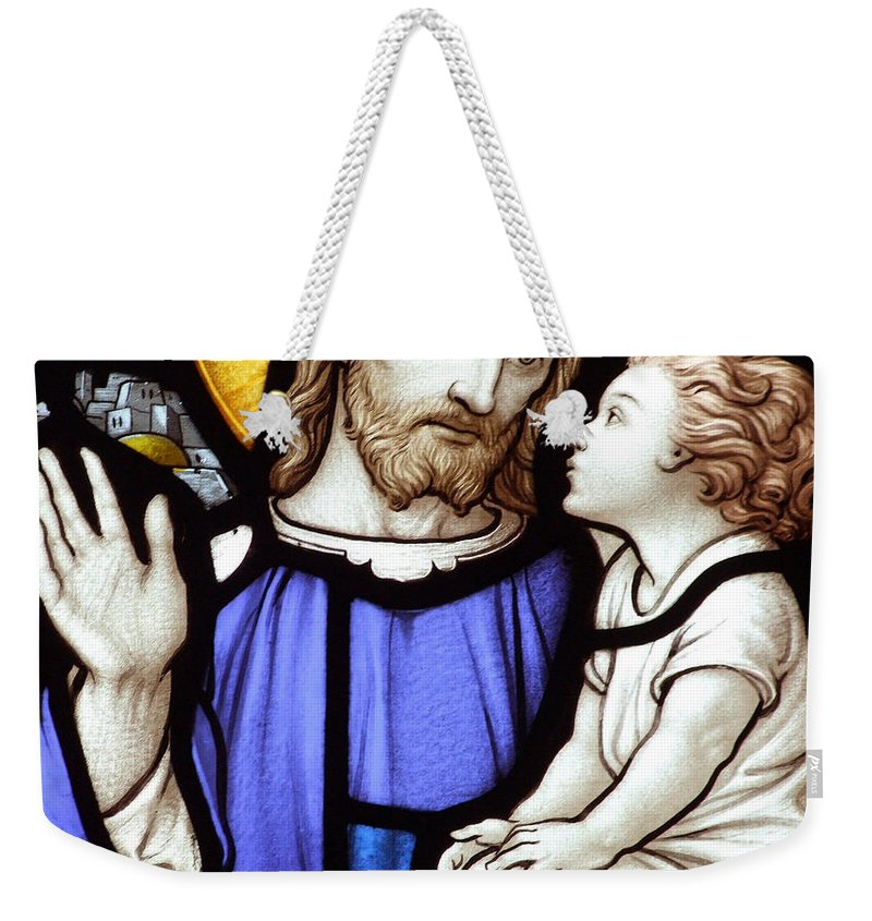 Stained Weekender Tote Bag featuring the photograph The Teaching by Munir Alawi