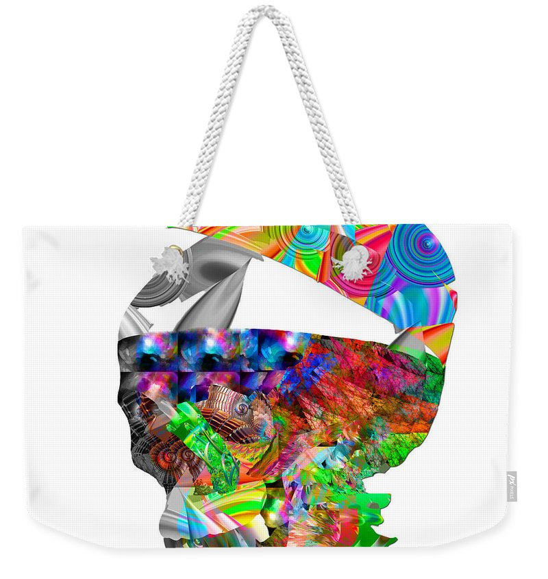 Abstract Weekender Tote Bag featuring the digital art The Thought Escapes Me by Betsy Knapp