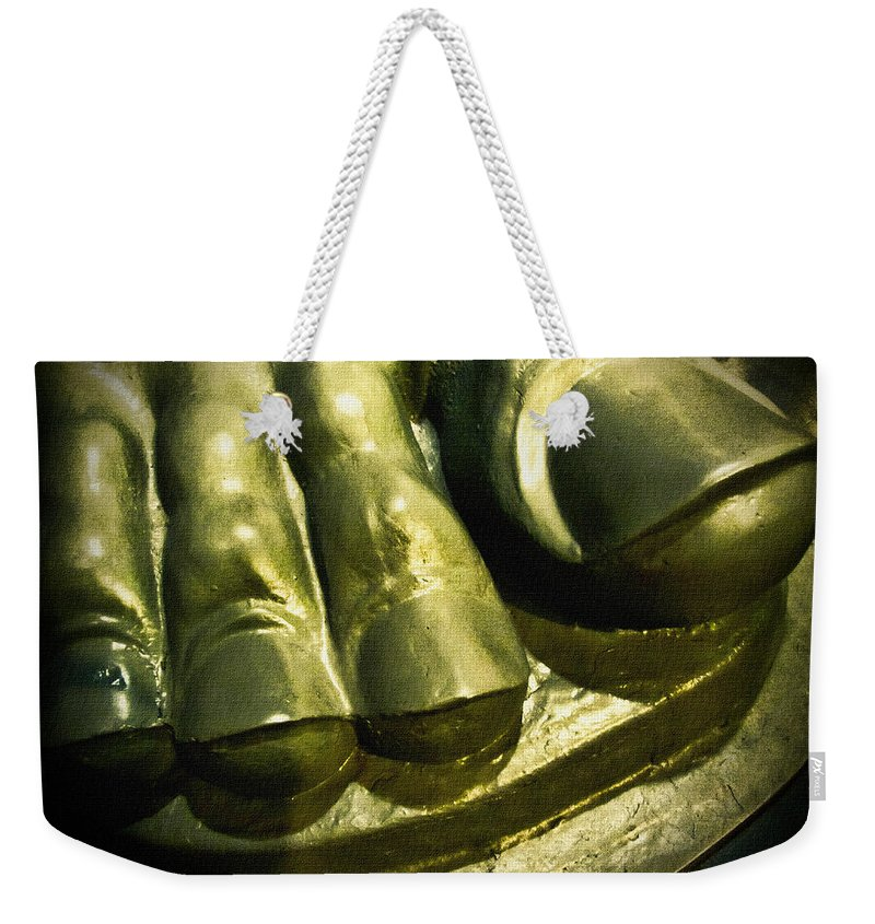 Vulcan Weekender Tote Bag featuring the photograph The Toes Of A Vulcan by Kathy Clark