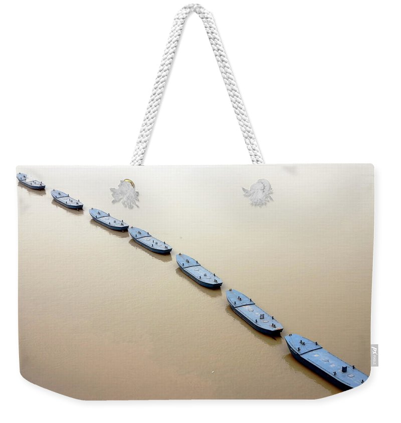 Chongqing Weekender Tote Bag featuring the photograph The Yangtze River In Chongqing by Valentino Visentini