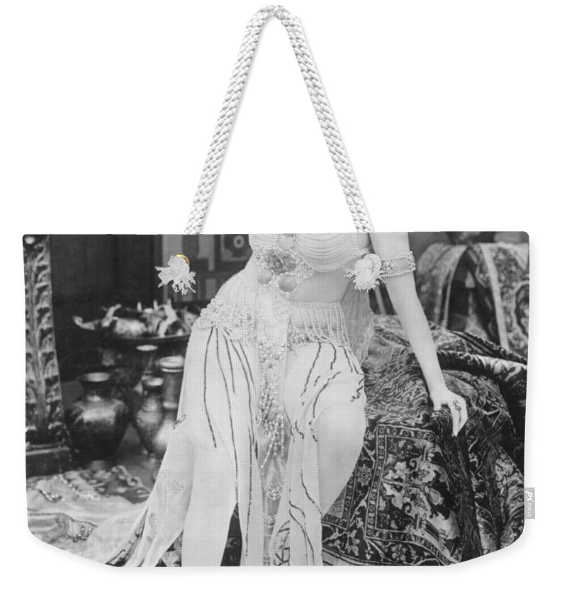 -nec02- Weekender Tote Bag featuring the photograph Theda Bara (1885-1955) by Granger