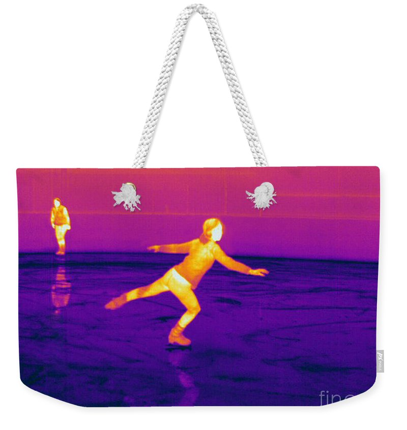 Thermogram Weekender Tote Bag featuring the photograph Thermogram Of A Skater by Ted Kinsman