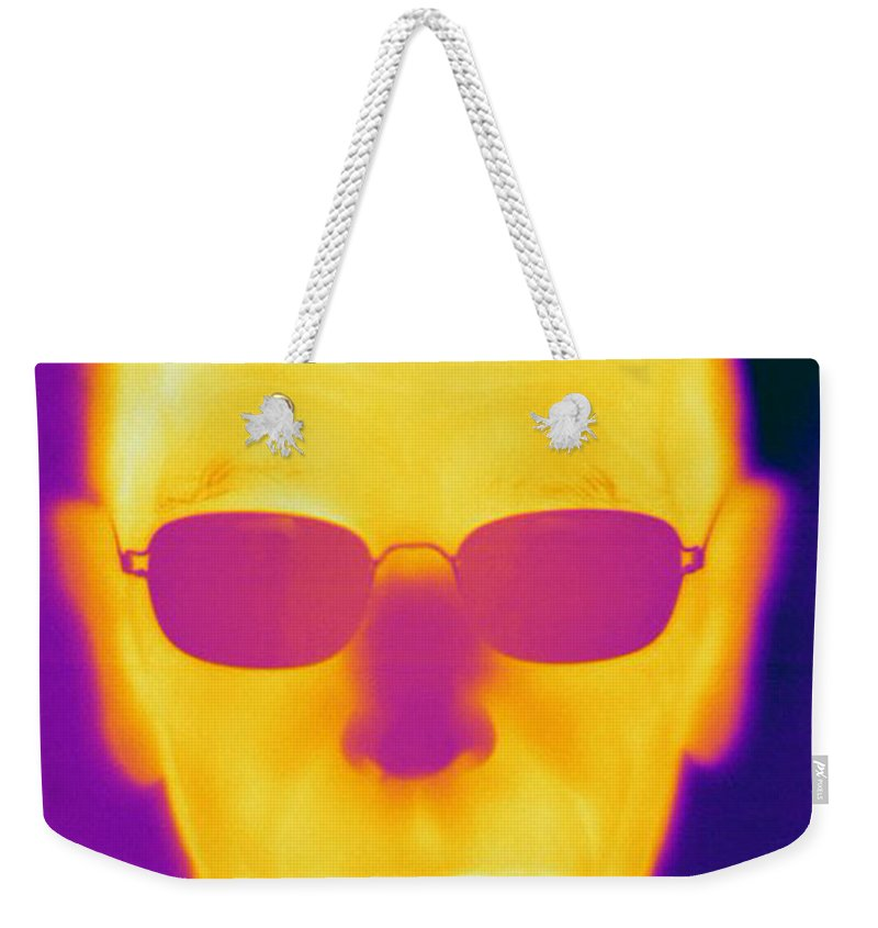 Thermogram Weekender Tote Bag featuring the photograph Thermogram Of An Elderly Man by Ted Kinsman