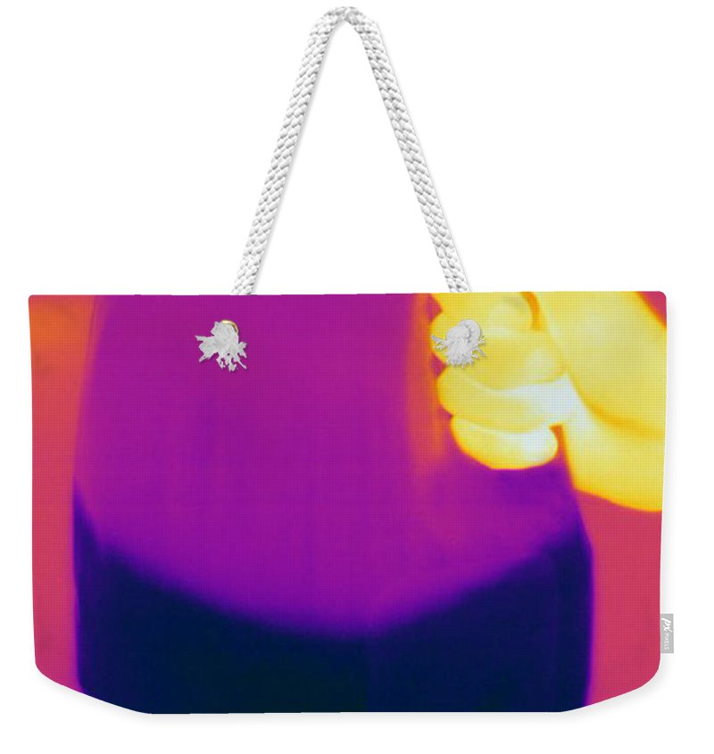Thermogram Weekender Tote Bag featuring the photograph Thermogram Of Milk Jug by Ted Kinsman