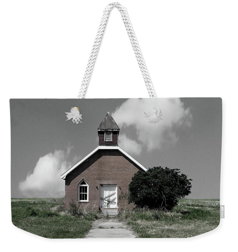 Ruins Weekender Tote Bag featuring the digital art They Gathered Here Once by Lizi Beard-Ward