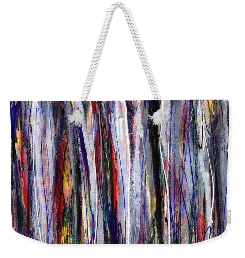 Abstract Weekender Tote Bag featuring the painting Thicket In Ice by Lynne Taetzsch