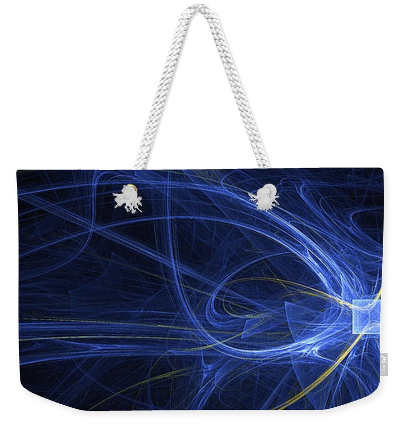 Fractal Weekender Tote Bag featuring the digital art Thinking Outside The Box - Abstract by Ann Garrett