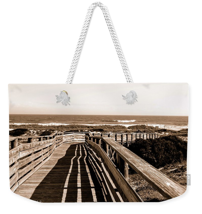 Sepia Weekender Tote Bag featuring the photograph This Never Gets Old by Shannon Harrington