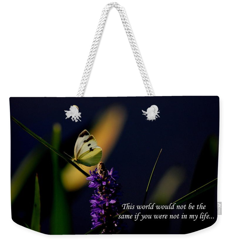 Cabbage Yellow Cards Weekender Tote Bag featuring the photograph This World by Travis Truelove