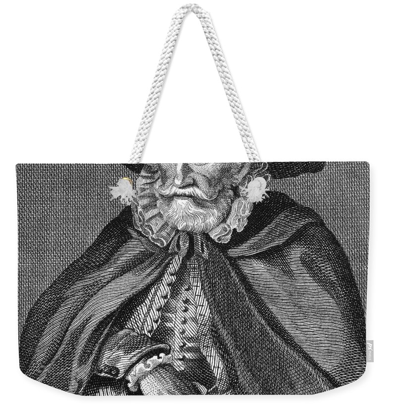 16th Century Weekender Tote Bag featuring the photograph Thomas Hobson (1544-1631) by Granger