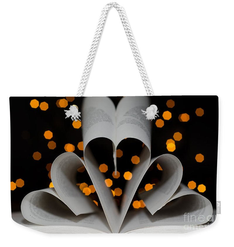 Heart Weekender Tote Bag featuring the photograph Three Hearts by Mats Silvan