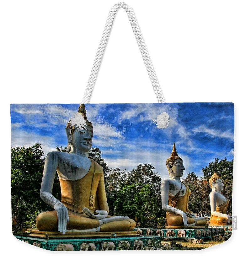 Architecture Weekender Tote Bag featuring the photograph Three Of A Kind by Adrian Evans