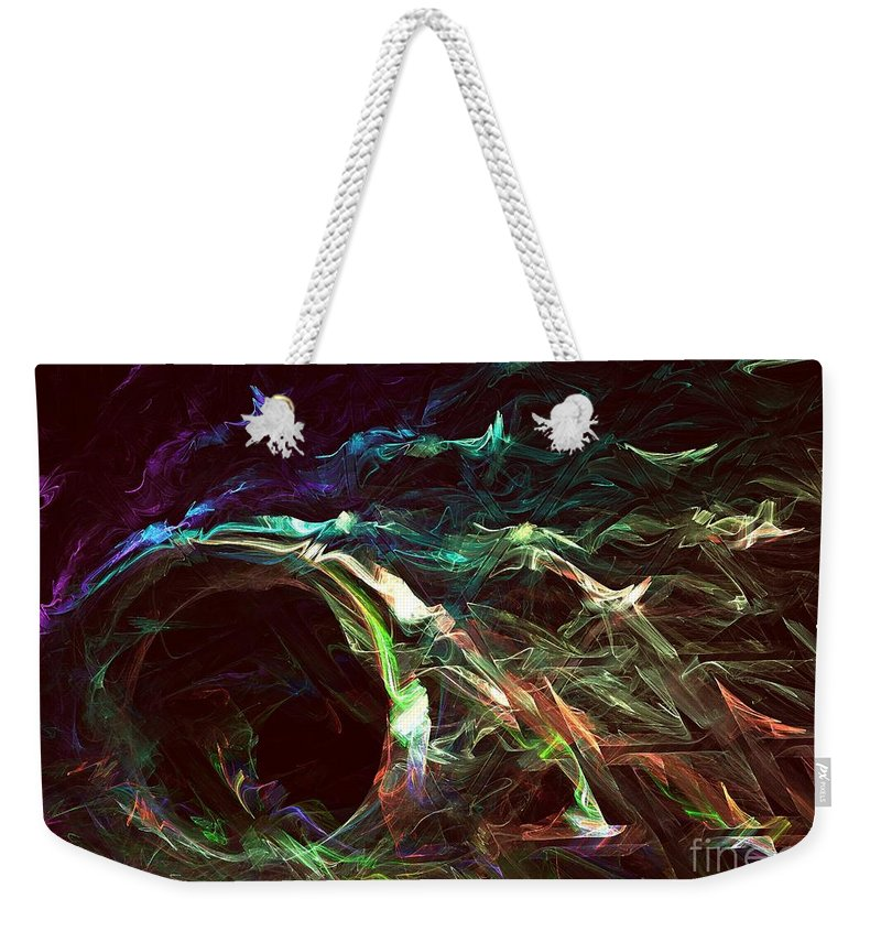 Apophysis Weekender Tote Bag featuring the digital art Tides by Kim Sy Ok