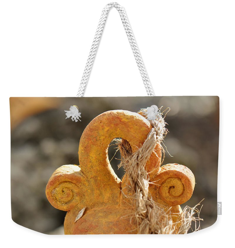 Bell Weekender Tote Bag featuring the photograph Tie That Binds Us by Christine Stonebridge