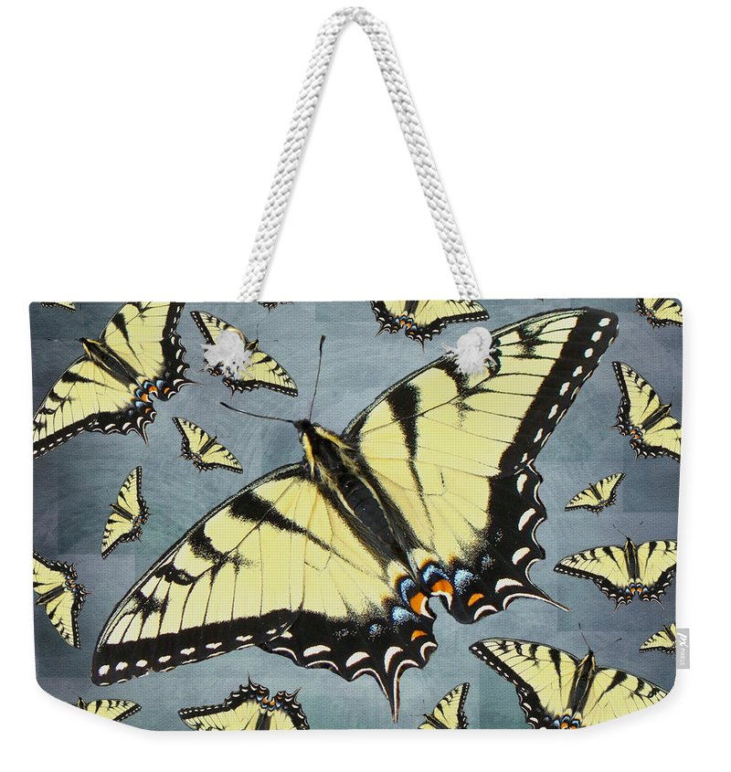 Butterfly Weekender Tote Bag featuring the photograph Tiger Swallowtail Butterfly by Mother Nature