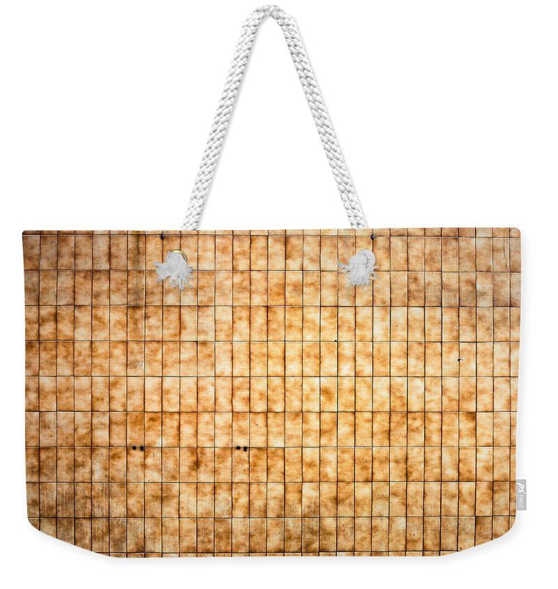 60s Weekender Tote Bag featuring the photograph Tiled Wall by Tom Gowanlock