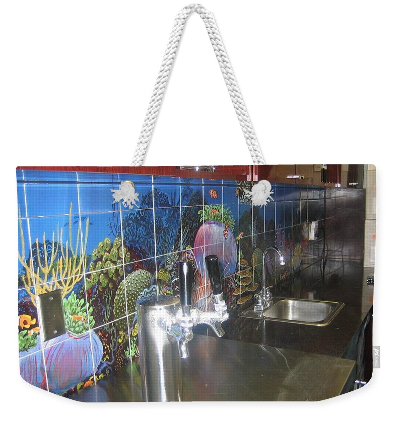 Tiles Weekender Tote Bag featuring the digital art Tiles For Homes Or Commercial by Carey Chen
