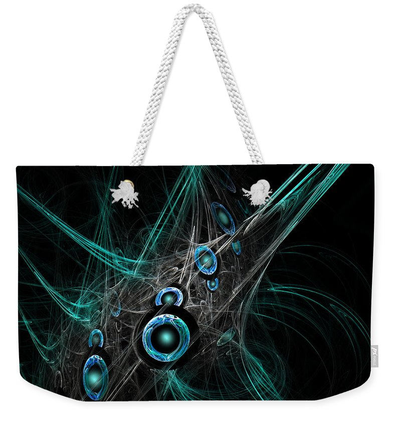 Fractal Art Weekender Tote Bag featuring the digital art Time And Dimension by Adam Vance