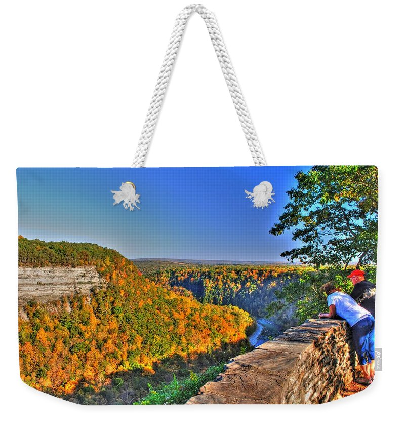 Weekender Tote Bag featuring the photograph Time Spent by Michael Frank Jr