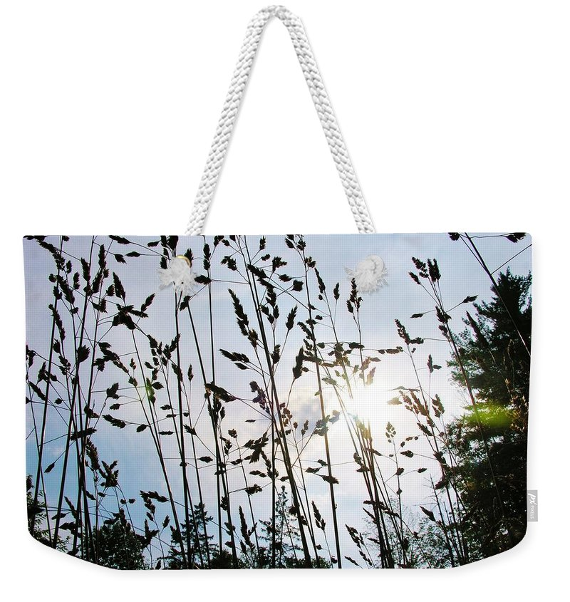 Grass Weekender Tote Bag featuring the photograph Time To Mow by Sherman Perry