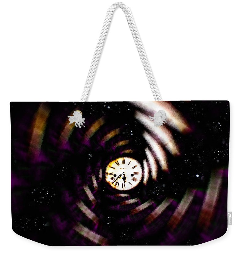 Digital Art Weekender Tote Bag featuring the digital art Time Traveler by Paula Ayers