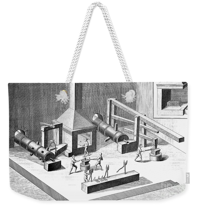 18th Century Weekender Tote Bag featuring the photograph Tin Plate Manufacture by Granger
