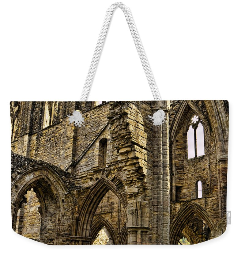Tintern Abbey Weekender Tote Bag featuring the photograph Tintern Abbey 10 by Jon Berghoff