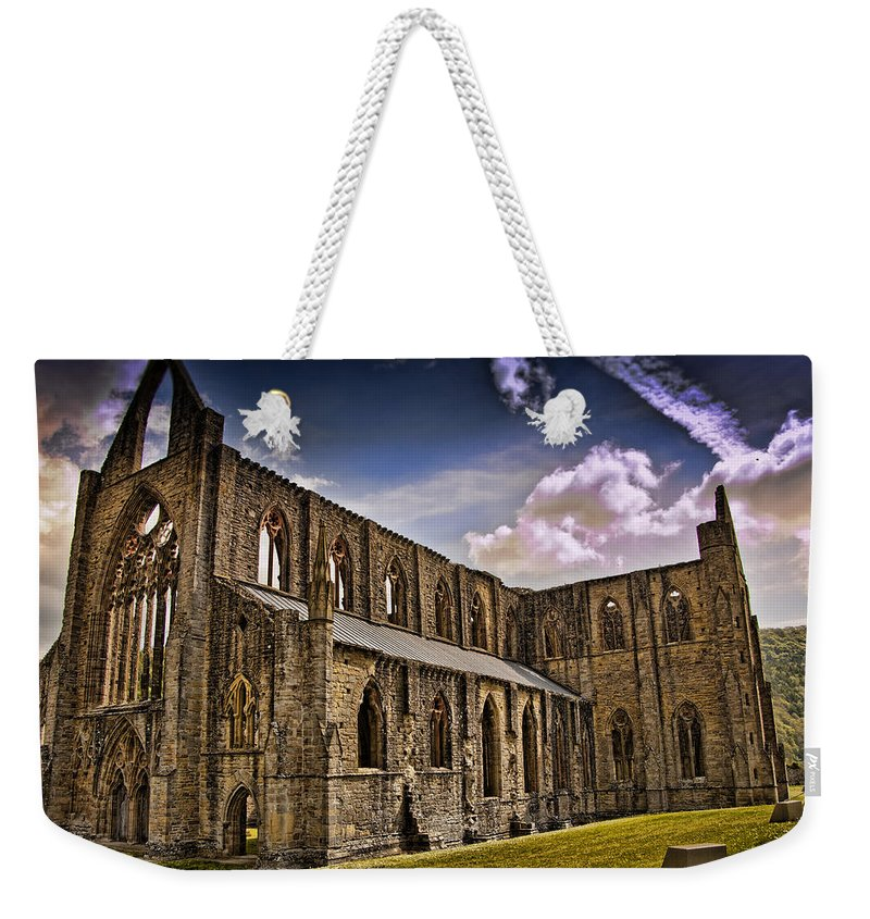 Tintern Abbey Weekender Tote Bag featuring the photograph Tintern Abbey 2 by Jon Berghoff