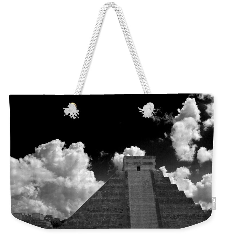 Chichen Itza Weekender Tote Bag featuring the photograph To The Top by Ken Frischkorn