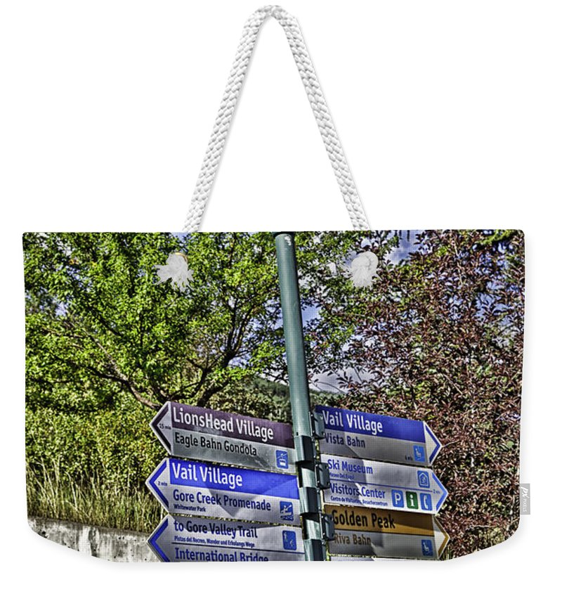Vail Weekender Tote Bag featuring the photograph To Vail With Love by Madeline Ellis