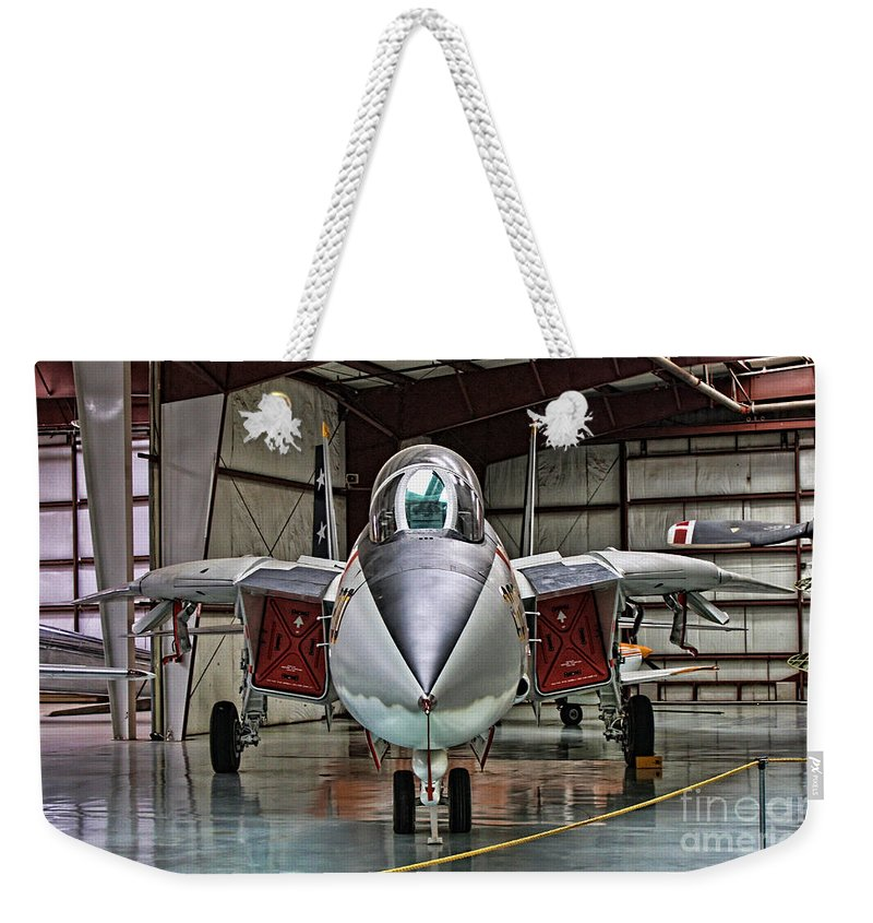 Grumman F-14 Tomcat Weekender Tote Bag featuring the photograph Tomcat by Tommy Anderson