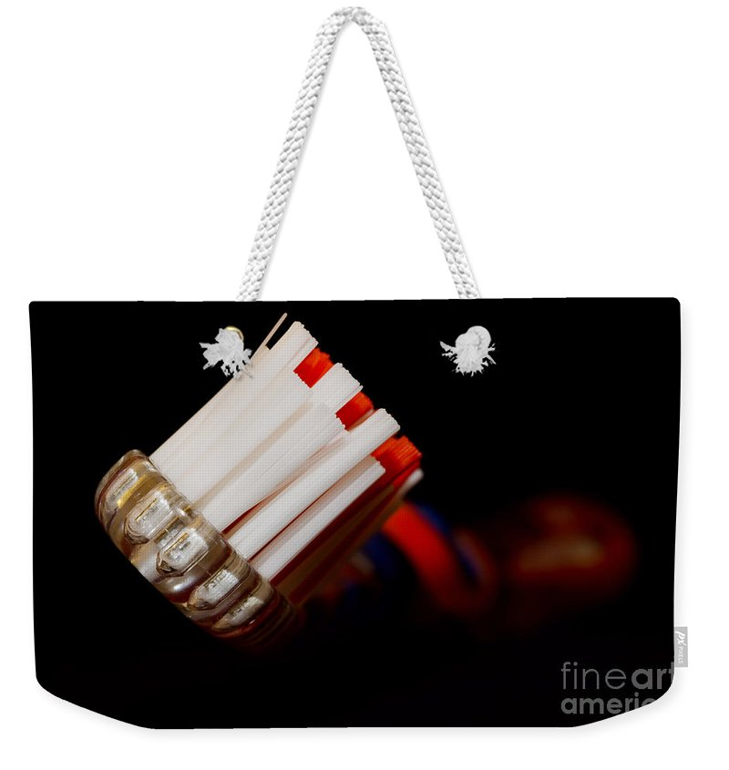 Tootbrush Weekender Tote Bag featuring the photograph Toothbrush by Mats Silvan
