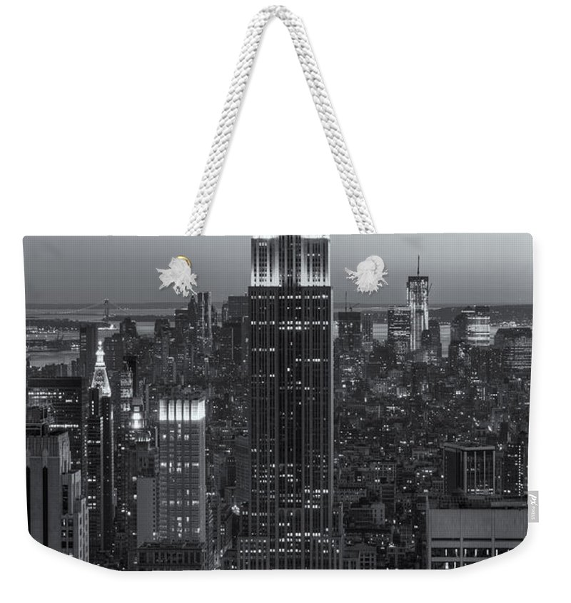 Clarence Holmes Weekender Tote Bag featuring the photograph Top Of The Rock Twilight Vi by Clarence Holmes