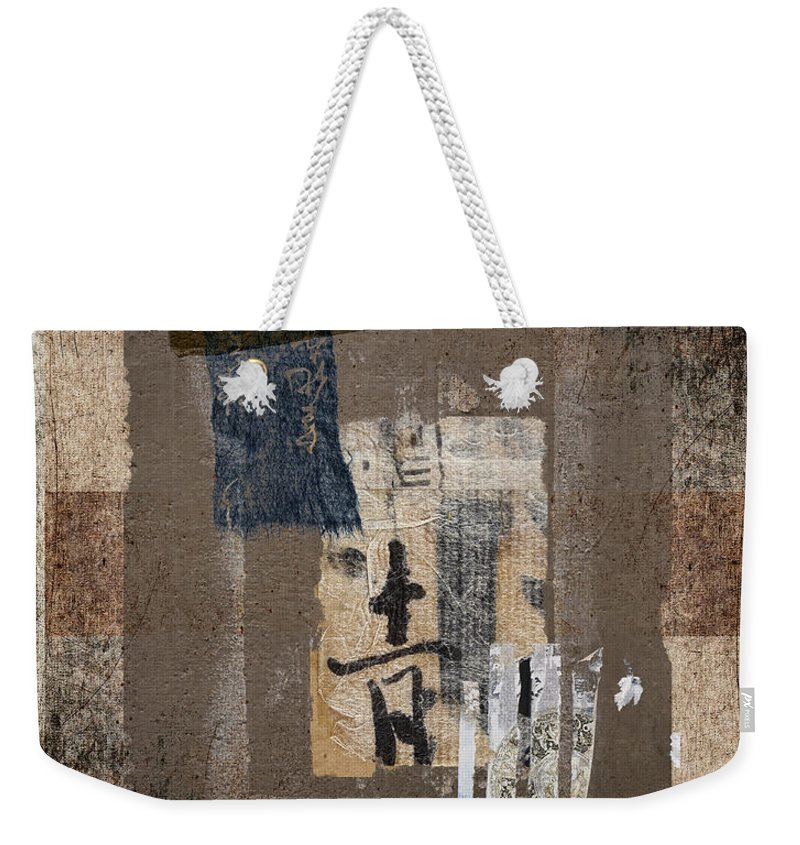 Torn Weekender Tote Bag featuring the photograph Torn Papers On Wall Number 3 by Carol Leigh