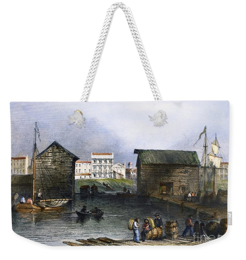 1842 Weekender Tote Bag featuring the photograph Toronto, Canada, C1842 by Granger