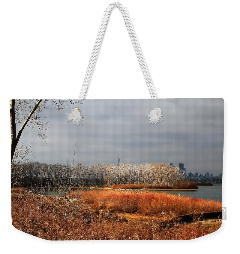 Toronto Skyline Weekender Tote Bag featuring the photograph Toronto Skyline 12 by Andrew Fare